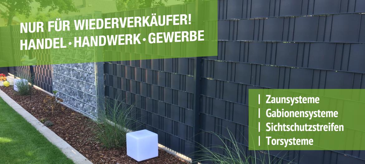 Zaun – Steinzaun – Sichtschutzstreifen kaufen